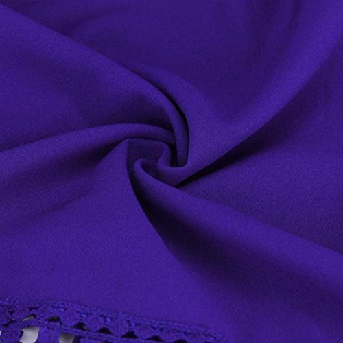 Shirt Top B Maniche Casual Bluse a Lunghe Camicie Camicetta Pizzo Camicetta Donna Magliette da di Elegante E Cotone Casual Tops Vintage Blu di feiXIANG Maglietta Sciolto Blusa Camicia T 7xf0vq1n