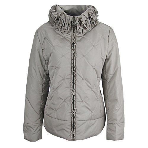 ZAIAI Women's Anorak Parka Coat Silver Gray