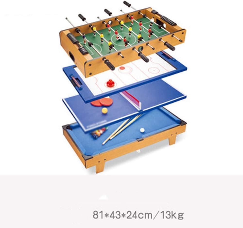 JIADUOBAO Función Multi 4 en 1 Combo Juego de Mesa, Steady fútbol, Tenis de Mesa, Hockey sobre Hielo, o Ruso Cubierta Ocio Juego de descompresión
