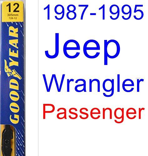 1987-1995 Jeep Wrangler Wiper Blade (Passenger) (Goodyear Wiper Blades-Premium) (1988,1989,1990,1991,1992,1993,1994)