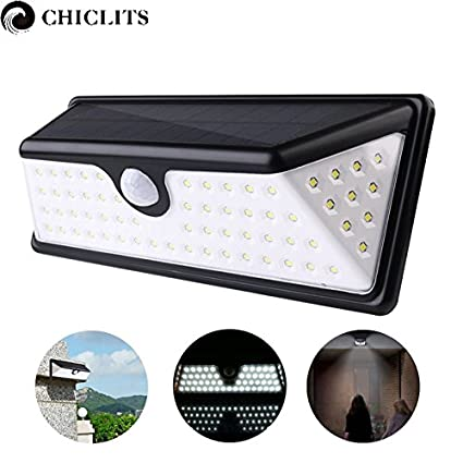 Amazon.com: Cool White : Chiclits 73 Led Solar Lamp 1pcs Waterproof Solar Lights Motion Sensor Lamp Solar Power Luz Led Light with 3 Modes for Outdoor: Home ...