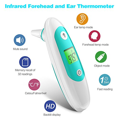 Baby Thermometer, Accurate Forehead Thermometer with Ear Mode, Digital Clinical Thermometer for Baby, Toddler and Adults with with FDA Approved by APOLLED (Image #4)