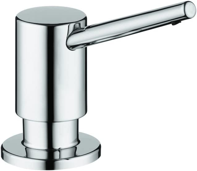 Amazon Com Hansgrohe Bath And Kitchen Sink Soap Dispenser Contemporary Premium 3 Inch Modern Soap Dispenser In Chrome 04539000 Small Home Improvement
