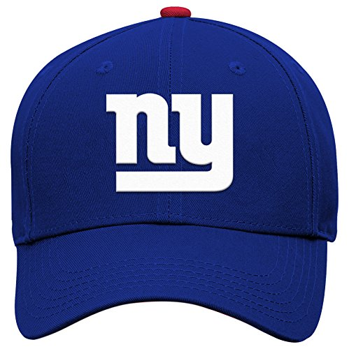 NFL New York Giants Boys 47 Basic Structured Adjustable Hat, Dark Royal, 1 Size