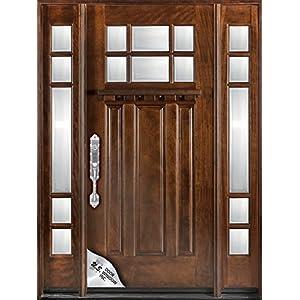 Exterior Mahagany Front Wood Entry Door M36