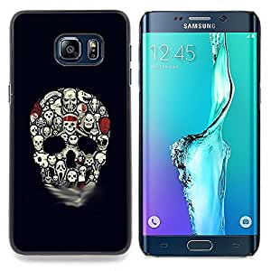 - Skull Pattern Haunted Halloween Black - - Snap-On Rugged Hard Cover Case Funny HouseFOR Samsung Galaxy S6 Edge Plus