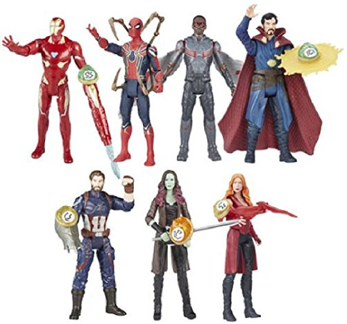 Avengers Infinity War 6-Inch Figures Stones Accessory Wave 2 set of 7
