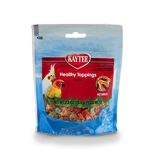 Kaytee Fiesta Healthy Toppings Papaya Bits For All Pet Birds, 2.5-Oz Bag
