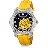 """JEANNIE ROSE  """"A Dozen Roses"""" Watches   40MM Women's Analog Watch   Yellow on Blackface A01"""