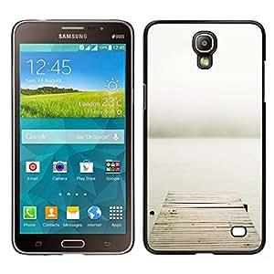 EJOY---Cubierta de la caja de protección para la piel dura ** Samsung Galaxy Mega 2 ** --Pier mar metáfora profunda de Lonely Gris