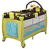 Crib Bumpers for Cribs with Attached Changing Table Baby Playpen Playard Bassinet Foldable Bed Travel Crib Newborn Infant Yellow Color