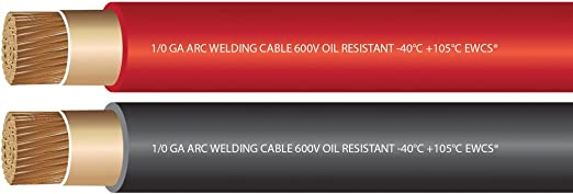 Black+RED EWCS Brand Made in The USA! 15 FEET of Each Color 6 Gauge Premium Extra Flexible Welding Cable 600 Volt Combo Pack