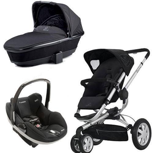 Amazon Quinny Buzz Stroller Dreami Bassinet WITH Maxi Cosi Prezi Carseat Black Standard Baby Strollers