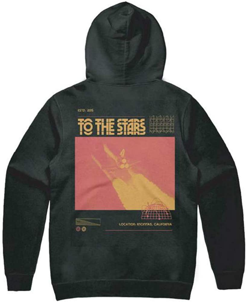 Glitch Unisex Pullover Hoodie Black To The Stars..