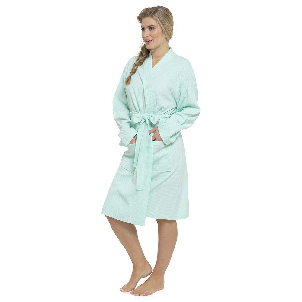 Foxbury Ladies Pure Cotton Waffle Robe