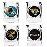 NFL Jacksonville Jaguars Four Piece Square Shot Glass Set (Individual Logos)