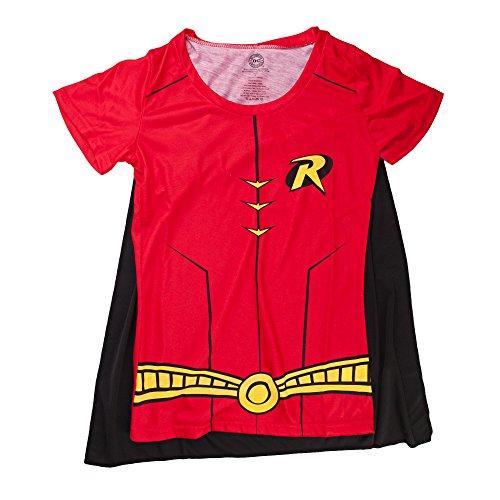 Robin Cape Shirt Robin Cosplay DC Robin Tshirt - Robin Cape Tee Robin Shirt-XLarge ()