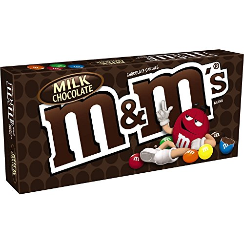 M&M'S Milk Chocolate Candy Movie Theater Box,3.1 Ounce, Pack of 12 -