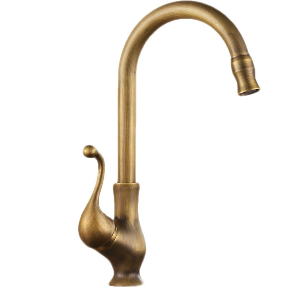 ZQG Antique Copper Kitchen Faucet, Hot And Cold Copper redatable Sink Sink Sink Faucet Faucet