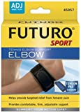 Futuro Tennis Elbow Support (w / tension pad), One Size/ADJ, Black, 1 Support (Pack of 2)