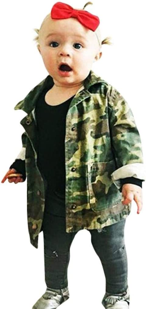 Pants Casual Outfits Set Clothes Auwer Toddler Baby Boy Camouflage Hooded Sweatshirt