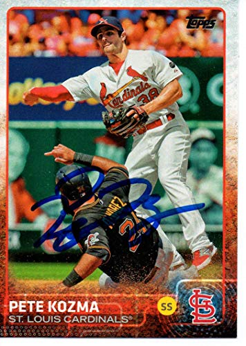 Pete Kozma St. Louis Cardinals 2015 Topps Update Autographed Signed Card