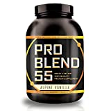 Pro Blend 55 Protein Powder – Low Carb Gainer & Meal Replacement Powder – Whey, Casein, & Egg Albumin Protein – Alpine Vanilla – 2.2 Pound For Sale