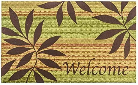 Bella Happy House 1003 Printed with Welcome Fashion Rubber Doormat, Entracne home doormat,Outside mat ,Easy cleanable 18 Inch By 30 Inch Green
