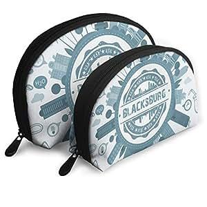Amazon.com: X-JUSEN 2 Pack Portable Shell Makeup Storage Bag ...