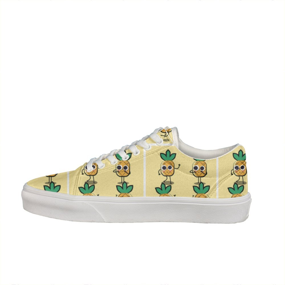 Comfortable Pineapple Character The Fruit Man's Slip Nursing Canvas Casual Shoes