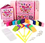 KRAFTZLAB Make My Own Clay Charms Craft Kit Includes 14.1 OZ (400g) Clay