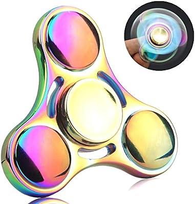 Spinner de mano Fidget Hand Spinner QcoQce S1 Arco iris colorido ...