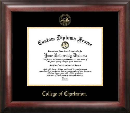Campus Images ''College of Charleston Embossed Diploma'' Frame, 20'' x 16'', Gold