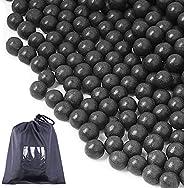 cyrico Slingshot Ammo Balls 1600 PCS, 3/8 Inch Clay Slingshot Ammo Biodegradable 9-10mm Black and Grey