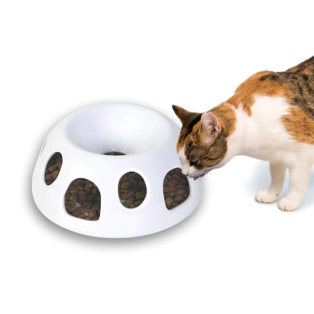 Pioneer Pet Tiger Diner Ceramic Food Dish/Bowl, White