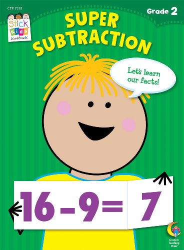 Super Subtraction Stick Kids Workbook, Grade 2 (Stick Kids Workbooks)