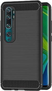 AICEK Funda Compatible Xiaomi Mi Note 10 / CC9 Pro, Negro Silicona Fundas para Xiaomi Note 10 Carcasa Xiaomi Note 10 Pro Fibra de Carbono Funda Case (6,47 Pulgadas): Amazon.es: Electrónica