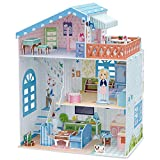 CubicFun Dollhouse Kits with Furniture,Kids House 3D Puzzle Toys 112 Piece,Seaside Villa P683h