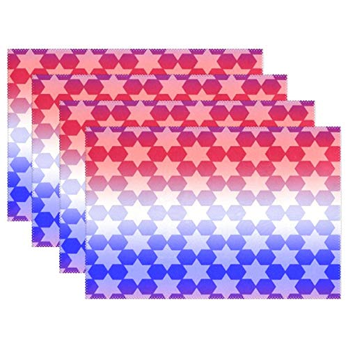 KRDFbxh Banner Header Stars Pattern Placemats Heat Insulation Stain Resistant for Dining Table Durable Non-Slip Kitchen Table Place Mats 1 Piece ()