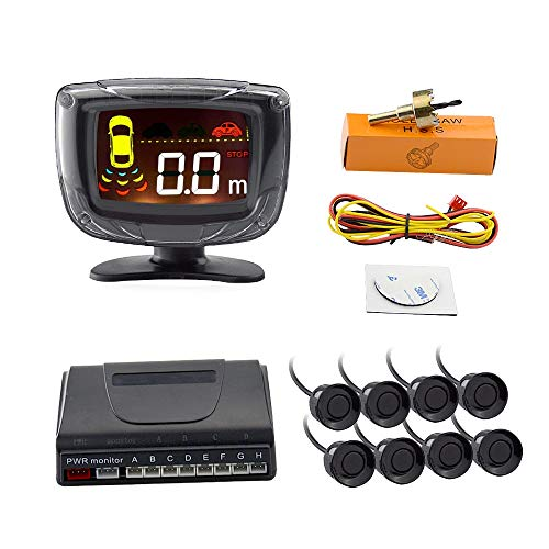 Amazon.com: Blue, 8 Sensors : Okeytech auto parktronic Sensor de aparcamiento Detector 4/8 del Radar posterior de reserva reversa Monitores sistema LED ...