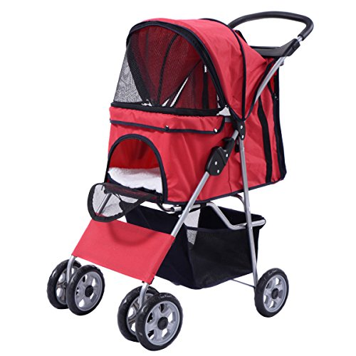 pet-stroller-four-wheel-cat-dog-folding-cart-carrier-steel-450d-polyester-cloth-eva-hold-up-55-lbs-r