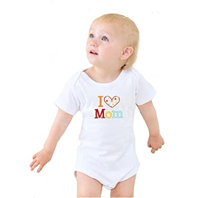 2 Pack Unisex-Baby Newborn Love Mummy Love Daddy Bodysuit