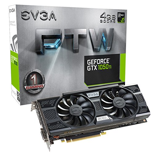 EVGA NVIDIA GeForce GTX 1050 Ti 4GB GDDR5 PCI Express 3.0 Graphics Card Black 04G-P4-6258-KR
