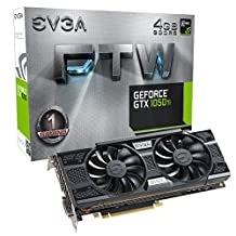 EVGA 04G-P4-6258-KR GeForce GTX 1050 Ti FTW Gaming Graphic Cards ACX 3.0, 4GB GDDR5, DX12 OSD Support (PXOC)