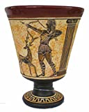 Pythagoras Fair Cup Goddess of Hunt Artemis Handpainted Tantalus Cup Of Justice