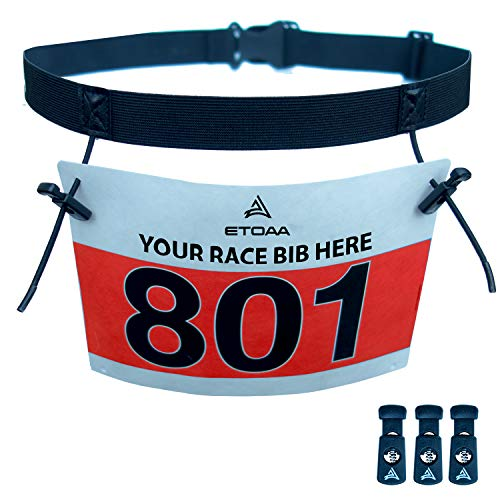 (ETOAA Race Number Belt for Triathlon and Running Bibs)