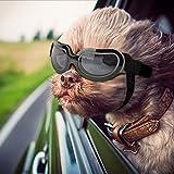Namsan Stylish and Fun Pet/Dog Puppy UV Goggles Sunglasses Waterproof Protection Sun Glasses for Dog (Bright Black)