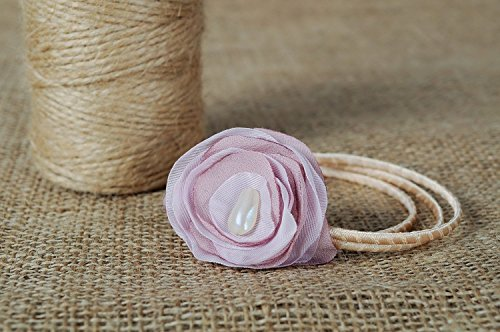 Brecelet with Flower Made of Organza