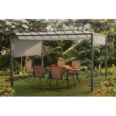 Sunjoy Louvered Pergola For A Shaded Backyard Getaway Or An Intimate Outdoor  Dining Room By Sunjoy