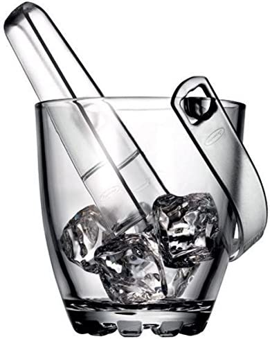 Pasabahce Sylvana Ice Bucket With Tong In Gift Box 13cm For Home Bar Kitchen